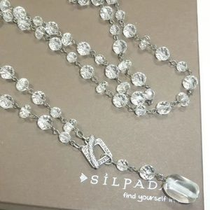 Silpada N1503 Long Glass Bead Toggle Necklace